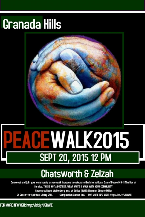 Granada Hills Peace Walk Flyer 2015